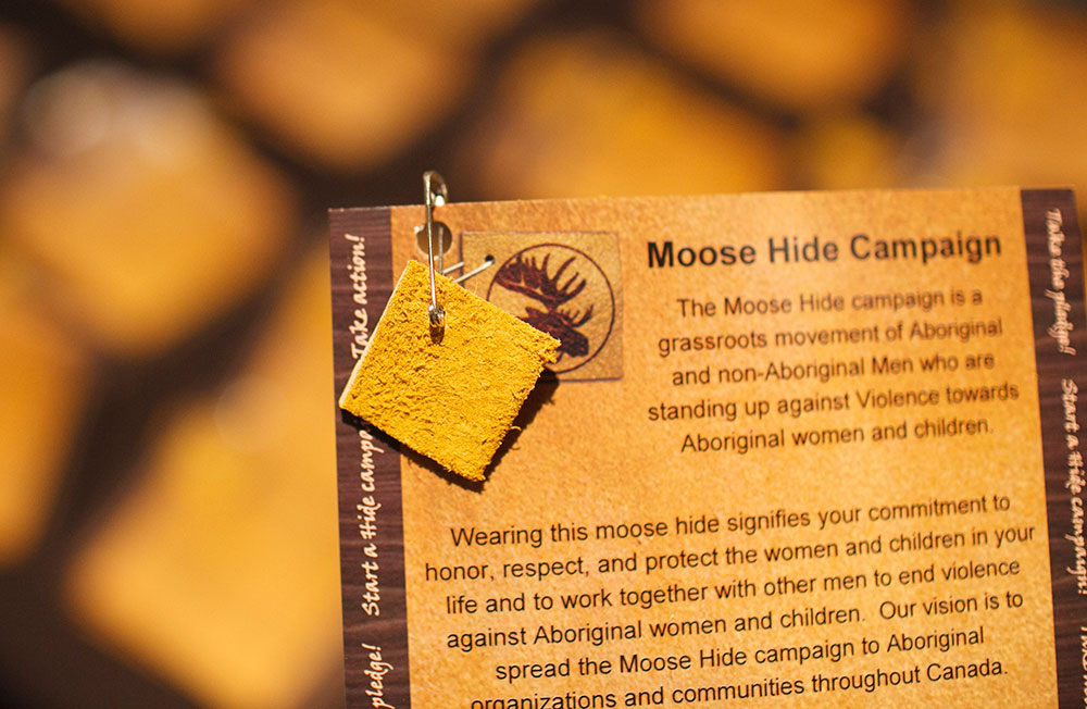 Moose Hide Campaign card and pin