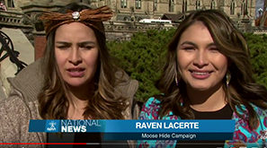 Raven and Sage Lacerte on Parliament hill